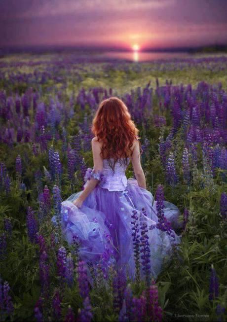 woman in lavender bella's secret garden
