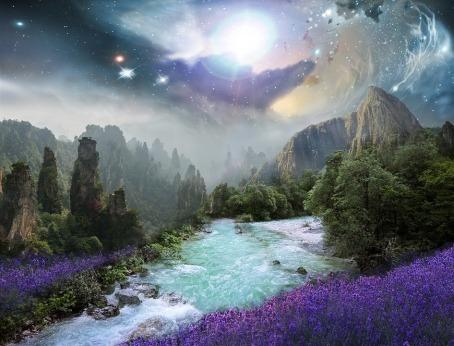 fantasy land purple pixabay